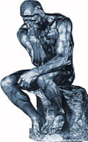'The Thinker' by Rodin -- Embodies the use of reason.